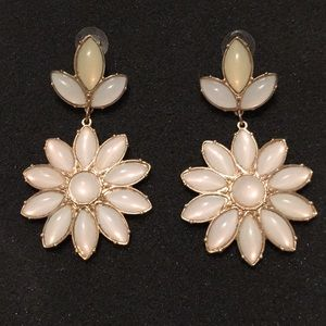 Gently used large beaded statement earrings